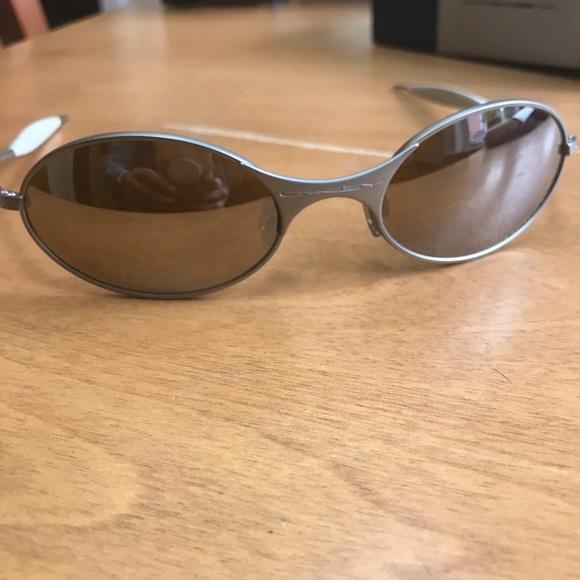 0235abf010 Oakley T wire titanium sunglasses